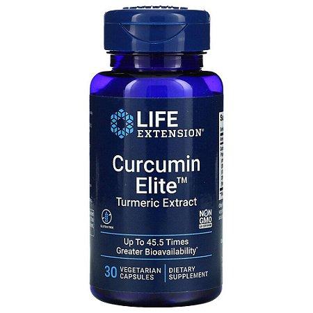 Curcumin Elite, Extrato de Cúrcuma, 30 Cáps, Life Extension