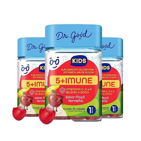Kit 3x Suplemento Alimentar Dr. Good 5+ Imune Kids 30 Gomas