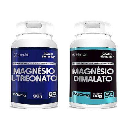 Combo Magnésio L-treonato (500mg) + Dimalato 60 Cáps