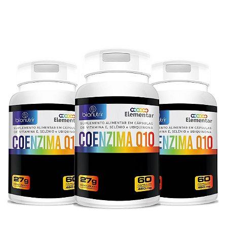 Kit 3x Coenzima Q10 60 Cápsulas 500mg Bionutrir Ubiquinona