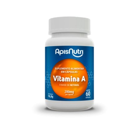 Suplemento De Vitamina A 280mg 60 Capsulas
