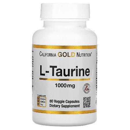 L-Taurina, California Gold Nutrition, 1.000 mg, 60 Cápsulas