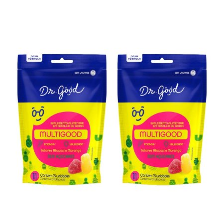 Kit 2x Gominhas Multigood Diet Pacote com 15 unidades