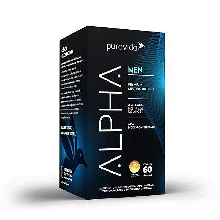 Alpha Men Multivitamínico Premium, 60Caps, Puravida