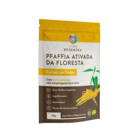 Pfaffia Ativada (Ginseng Brasileiro) Poder Regenera 60g