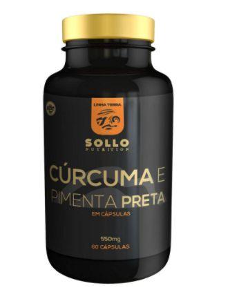 Cúrcuma e Pimenta Preta (Piperina) - 60 Cápsulas