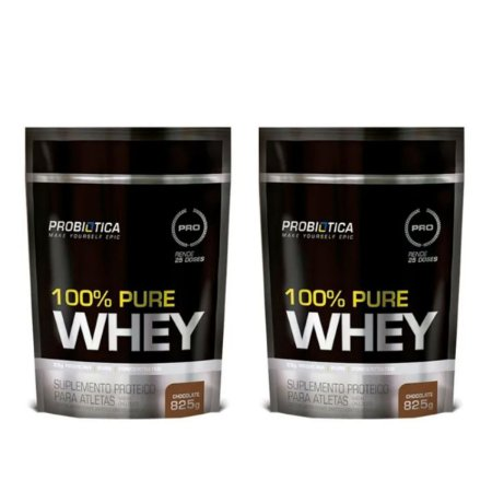 Combo 2x 100% Pure Whey ChocolateRefil 825grs - Probiotica