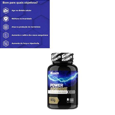 Arginina Power 120 Cápsulas Original Growth