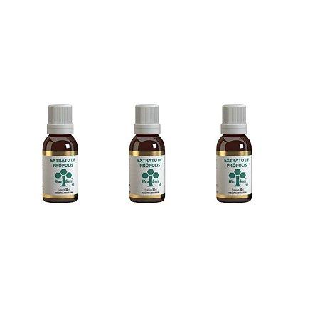 3x Extrato própolis 30ml, embalagem económica - Wax Green