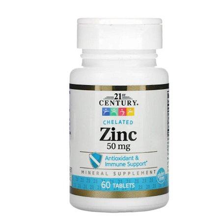 21st Century Zinco Quelado 50mg Importado 60tbt Zinc