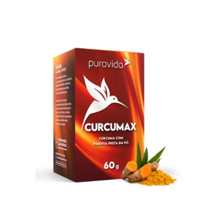 Curcumax Curcuma Longa em pó 60g Puravida