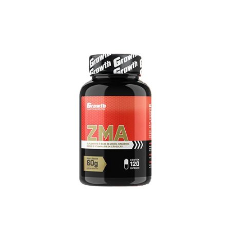 ZMA (ZINCO, MAGNÉSIO, CROMO, B6) (120 CAPS) - GROWTH