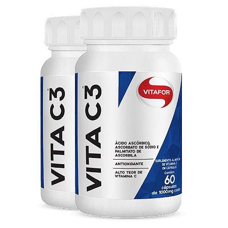 Kit 2x Vita C3 Vitamina C - 60 Cáps Vitafor