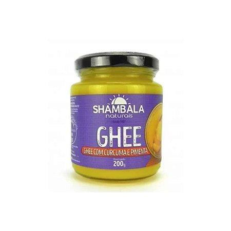 Ghee manteiga com cúrcuma e pimenta preta 200g