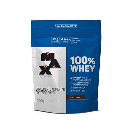 100% WHEY REFIL SABOR CHOCOLATE 900G