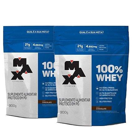 Combo 2x 100% WHEY REFIL SABOR CHOCOLATE 900G