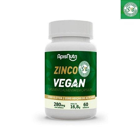 ZINCO VEGAN 280MG 60 CPS APISNUTRI .