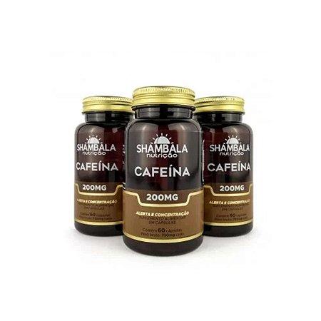 Combo 3x Suplemento de cafeína 60 cápsulas de 200mg