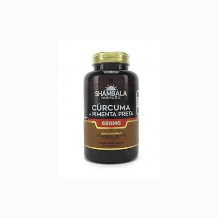 Cúrcuma c/ pimenta preta 120 cápsulas de 650mg