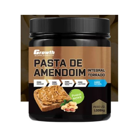 Pasta de Amendoim Integral Torrado 1kg - Growth Supplements