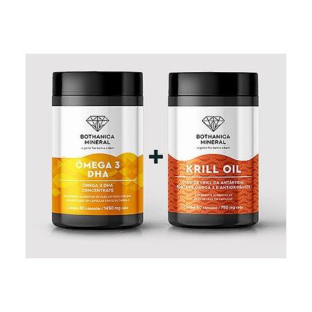 Combo ÔMEGA 3 DHA + KRILL OIL Fonte Sustentável De Ômega 3