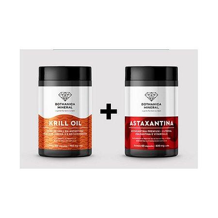 Proteja seu Coração Combo Astaxantina + Krill Oil 60 caps