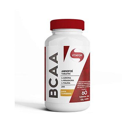 BCAA Aminofor 60 tabletes sabor tangerina, Vitafor