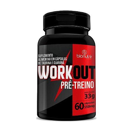Pré Treino C/ Mix Energético - Workout - 500mg 60 Caps
