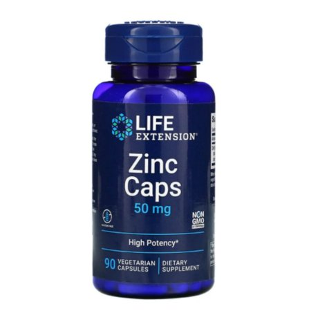 Zinco quelado 50 mg, 90 Cáps, Life Extension, Importado
