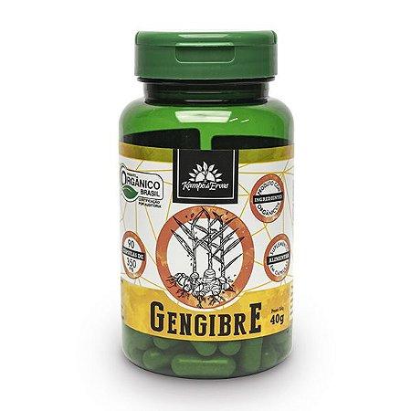 Gengibre orgânico 90cps de 350mg, Capsulas Vegana