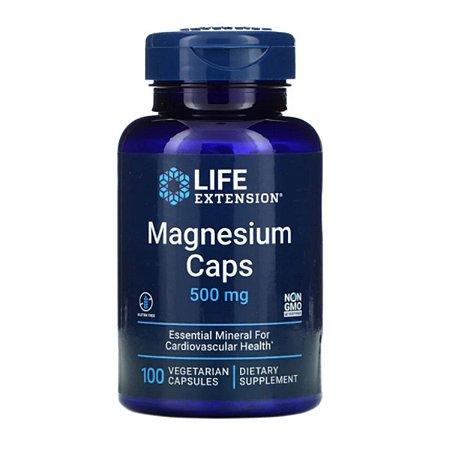 Magnésio 500 mg Life Extension, 100 Cápsulas Vegetarianas