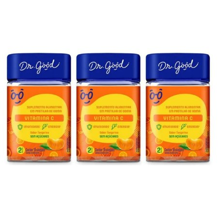 Kit 3x Vitamina C Diet Dr Good gomas sabor Laranja c/ 30
