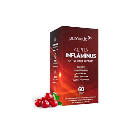 Kit 2x Alpha Inflaminus Antioxidante, 60 capsulas, Puravida