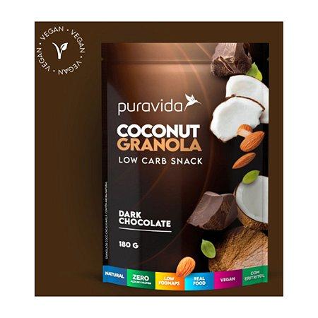 Kit 3x Coconut Granola Dark Chocolate, 180g, Puravida