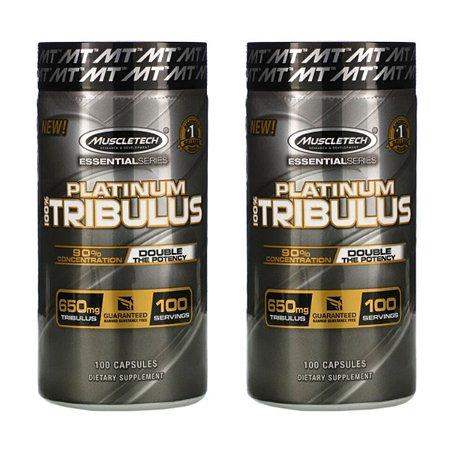 Kit 2x Tribulus 650 mg Muscl Platinum 90% saponinas 100 Caps