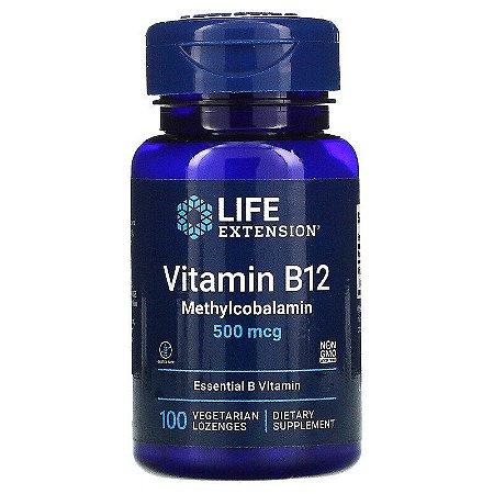 Vitamina B12, Life Extension, 500 mcg, 100 Capsulas