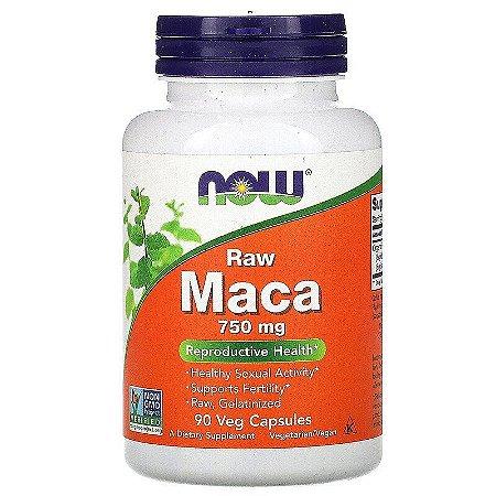 Maca Pura Premium, Now Foods, , 750 mg, 90 Cáps Vegetais