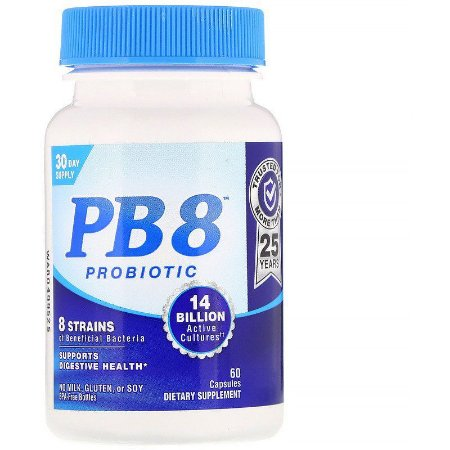 Nutrition Now, PB 8, Probiótico, 60 Cápsulas