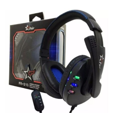 Headset Gamer Feir FR-215 com LED RGB