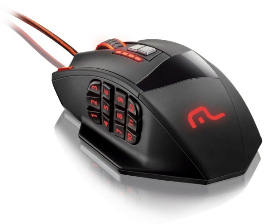 Mouse Gamer Multilaser Warrior 4000DPI 18 botões Programaveis com LED RGB
