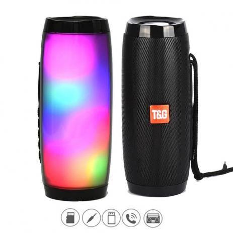Caixa de Som T&G Com Led RGB - TG-157