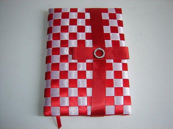 Caderno com fitas cetim trançadas cod.53