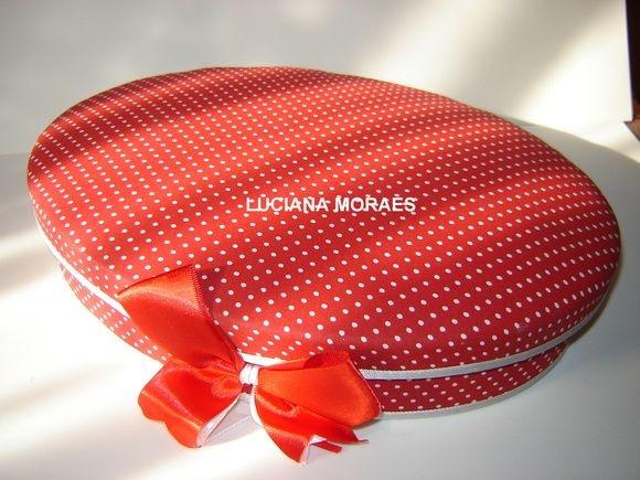 Caixa oval forrada com tecido cod.02
