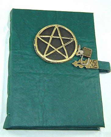 Diario de couro pentagrama  cod.350