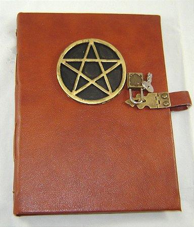 Diario de couro pentagrama  cod.351