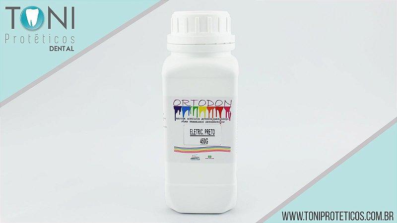 RESINA ORTODON PRETO C/GLITER|450GR|FRANTINS