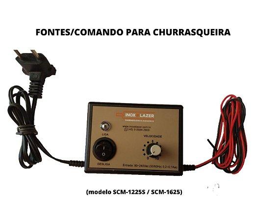 Fonte Alimentação Comando P/ Churrasqueira Rotativa Cc 15v
