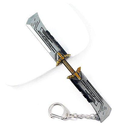 Chaveiro Espada Dupla Thanos Vingadores Ultimato (Avengers Endgame)