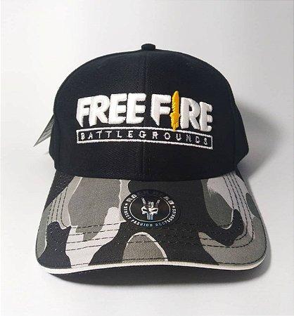 Boné Freefire - Camuflado