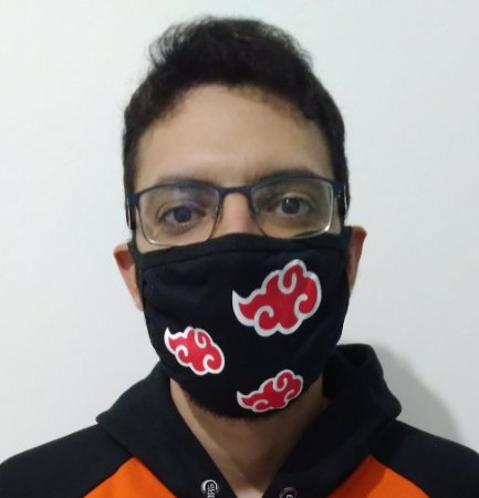 Máscara de Tecido Akatsuki - Naruto Reutilizável